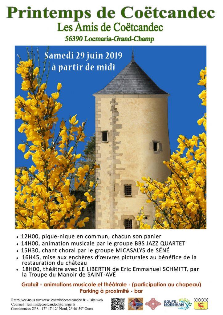Affiche printemps de Coëtcandec 2019
