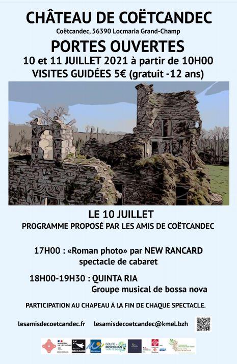 2021 Portes ouvertes juillet château de Coëtcandec